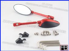 Bare mirrors red CNC machined alloy multi adjustable